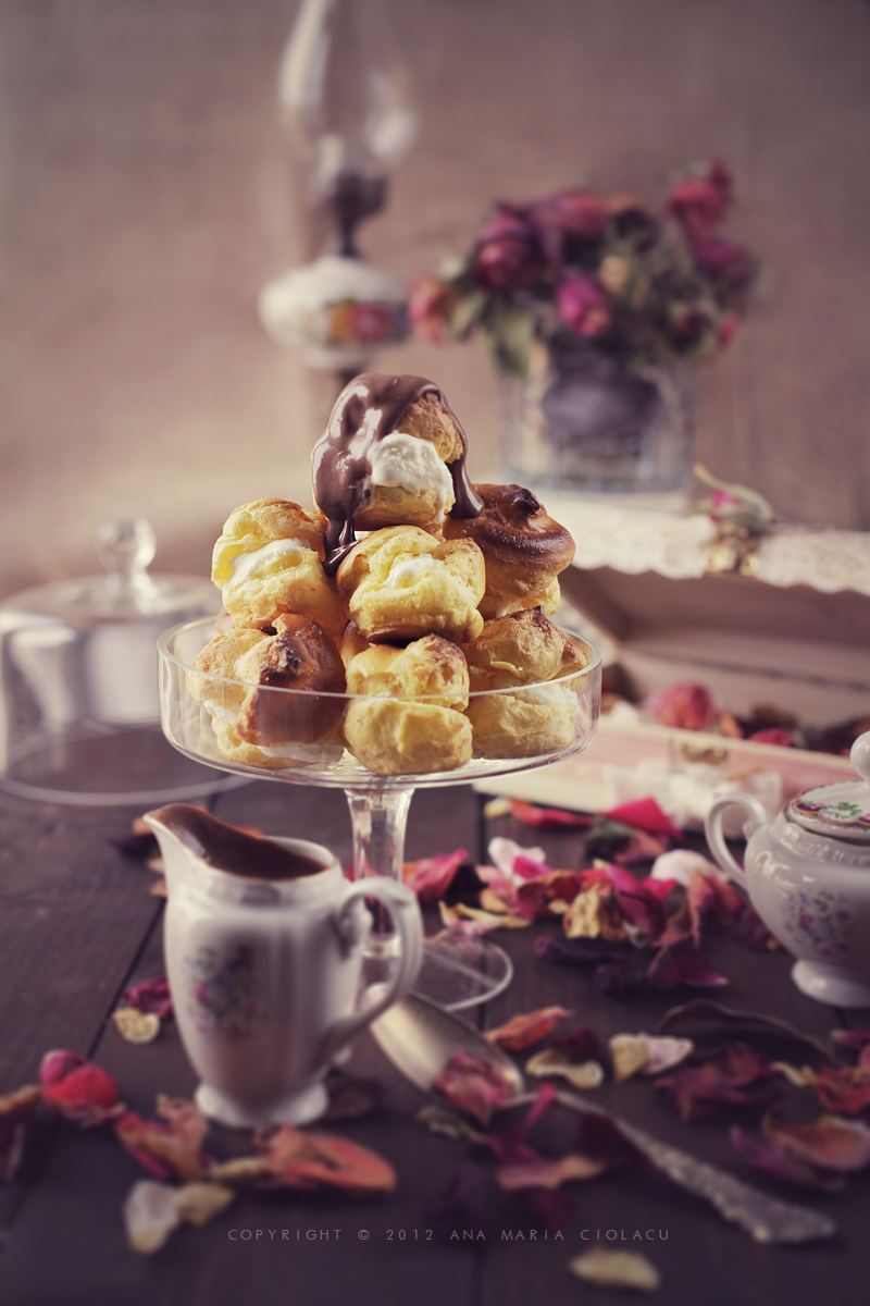 cream profiteroles with chartreuse ice cream recipe dishmaps cream ice ...
