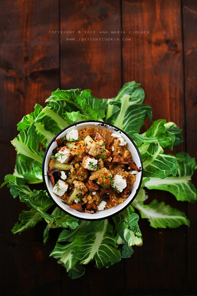 Roasted cauliflower quinoa 14