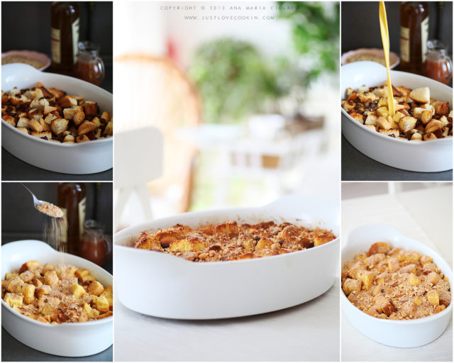 Bourbon caramel bread pudding 1