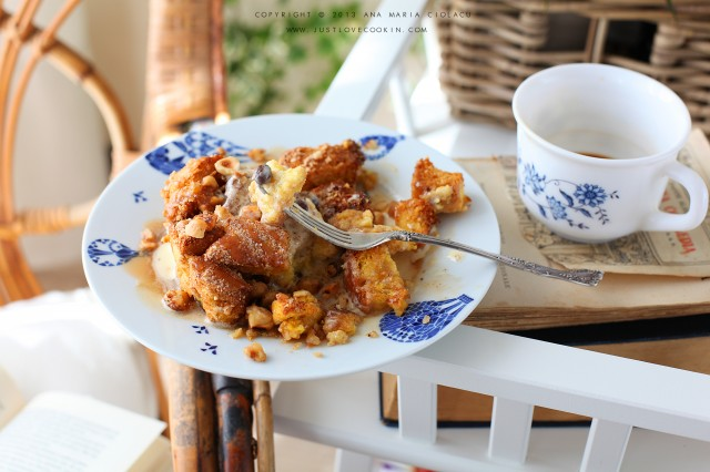 Bourbon caramel bread pudding 4
