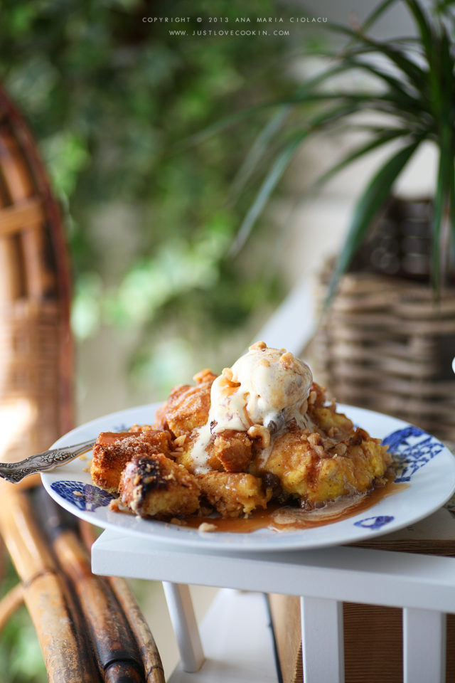 Bourbon caramel bread pudding 8